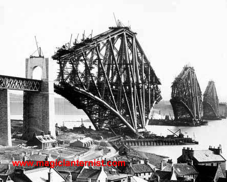 The Forth Bridge magic lantern slides and greeting cards
