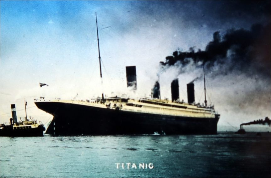 'The Loss of the Titanic' magic lantern slides